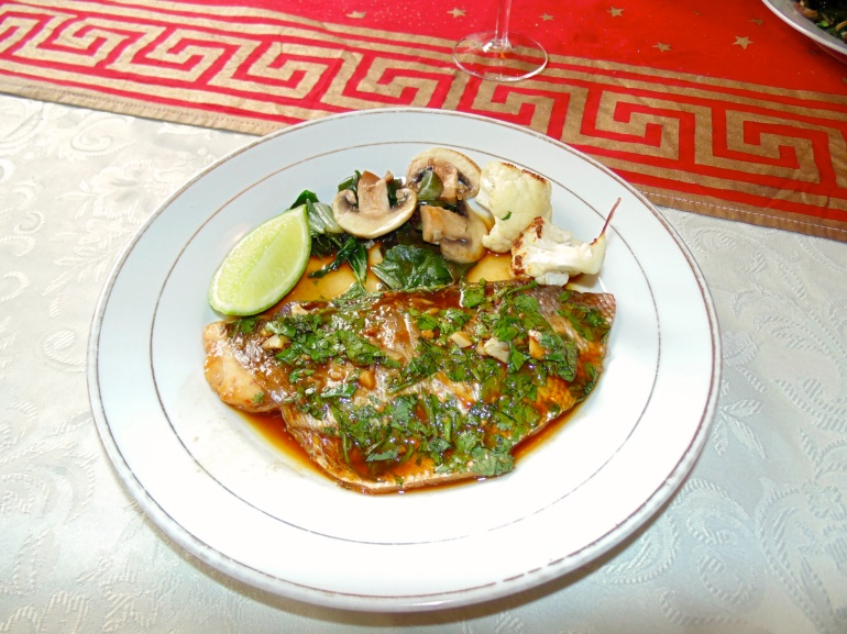 Steamed Snapper in Paper with Soy, Ginger and Garlic