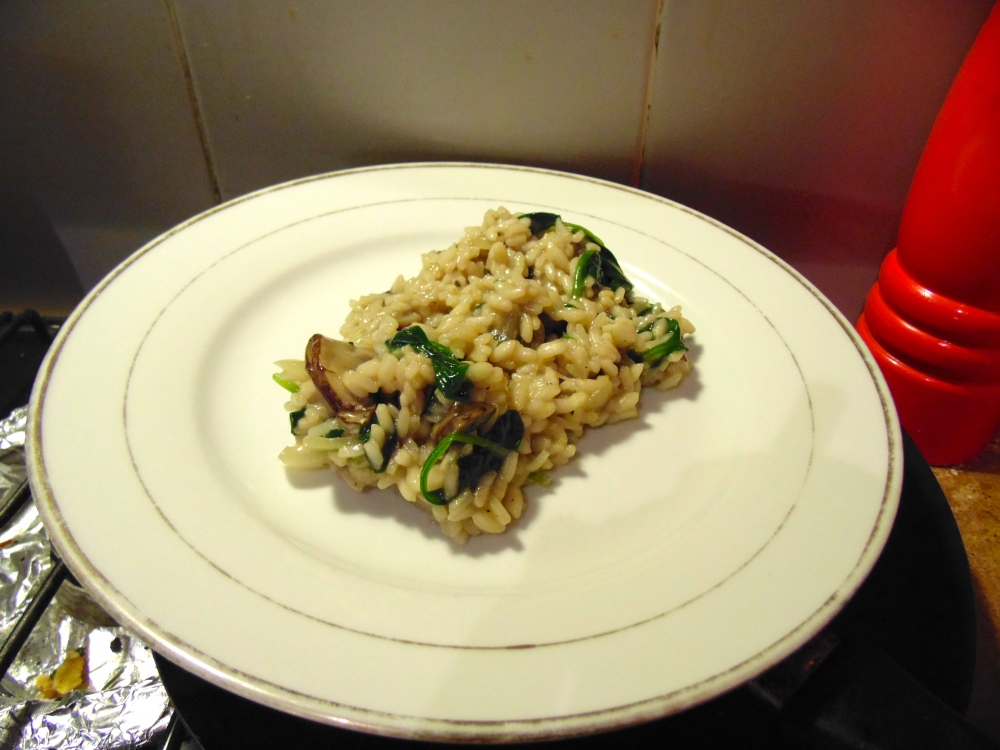 Risotto with Mushroom and Spinach