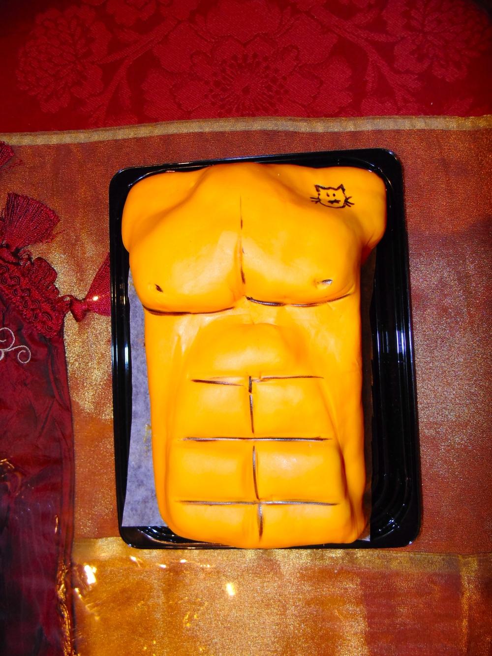 Ryan Gosling Abs Cake 1