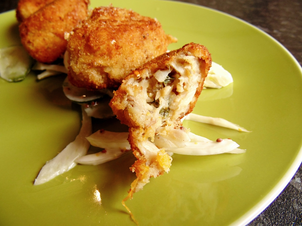 Green Curry Barramundi Croquettes with Fennel 'Slaw_Brendon D'Souza_1