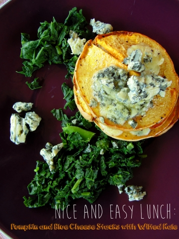 Pumpkin and Blue Cheese Stacks with Wilted Kale_Brendon D'Souza_brendonthesmilingchef_1