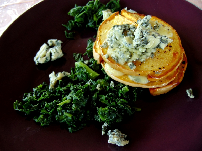 Pumpkin and Blue Cheese Stacks with Wilted Kale_Brendon D'Souza_brendonthesmilingchef_2