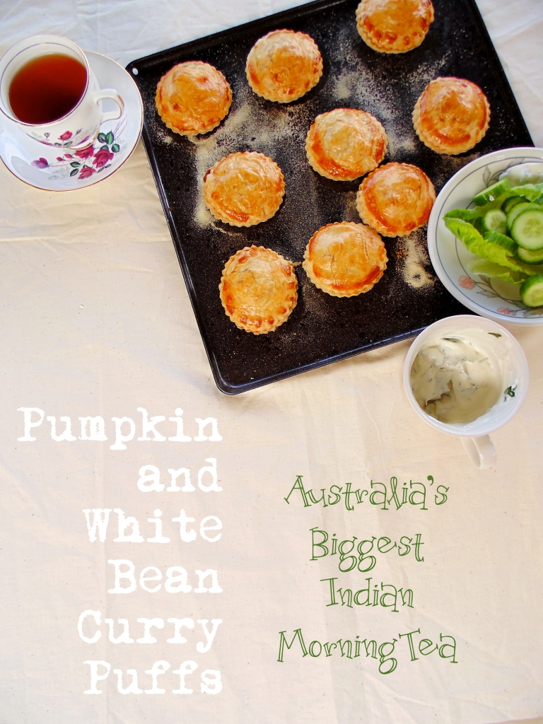 Australia's Biggest Indian Morning Tea: Pumpkin and White Bean Curry Puffs_Brendon D'Souza_Brendon The Smiling Chef_1