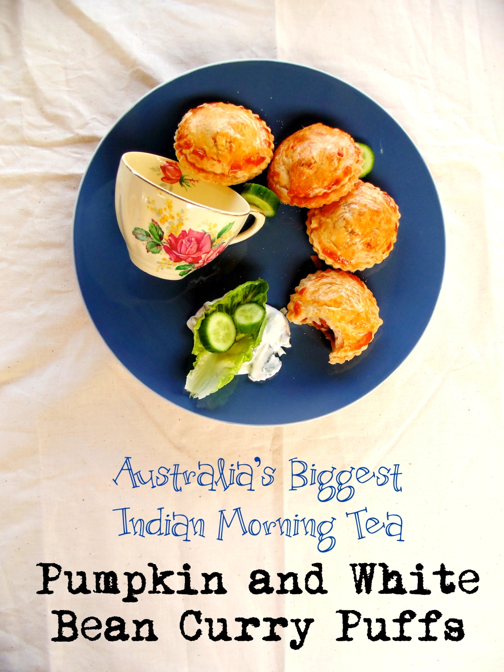 Australia's Biggest Indian Morning Tea: Pumpkin and White Bean Curry Puffs_Brendon D'Souza_Brendon The Smiling Chef_4