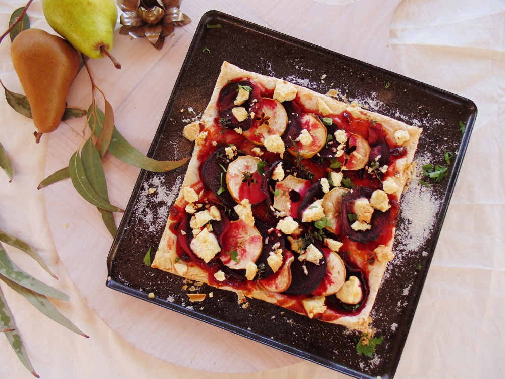 Beetroot, feta and apple puff pastry tarts_brendonthesmilingchef_3
