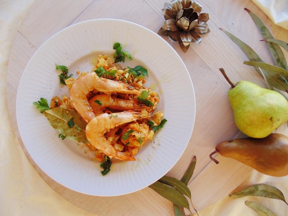 Spicy prawn and cauliflower pilaf_brendonthesmilingchef_1