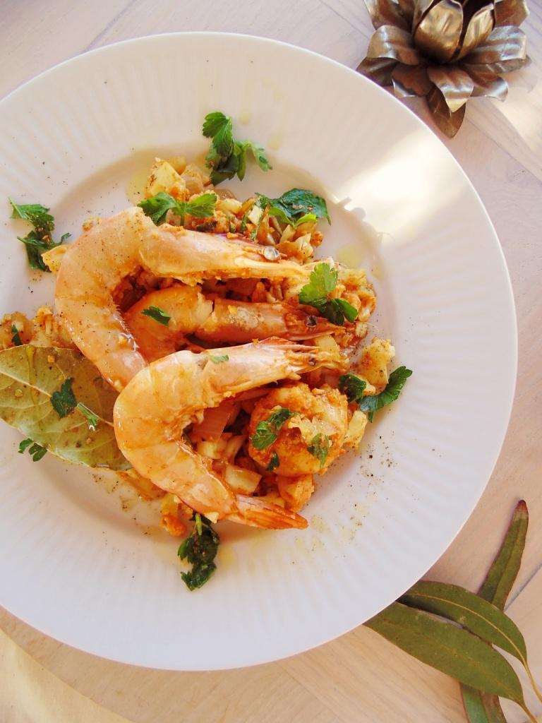 Spicy prawn and cauliflower pilaf_brendonthesmilingchef_2