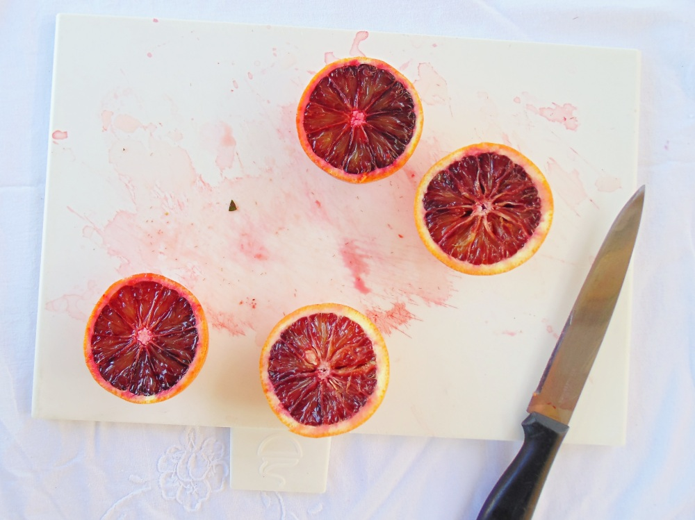 Don't worry, it's not blood. Just a blood orange :)