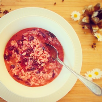 Try this funky pink beetroot risotto for dinner. Theres enough ti serve 4-6 for under $10