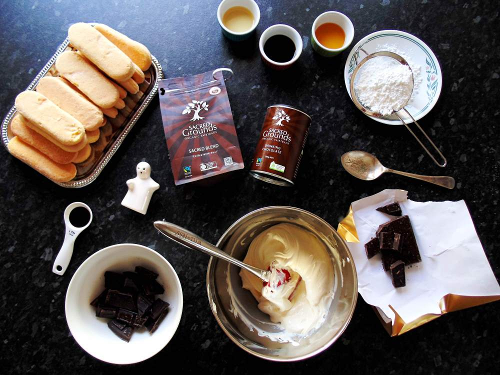 Everything you need to make a delicious Tiramisu.
