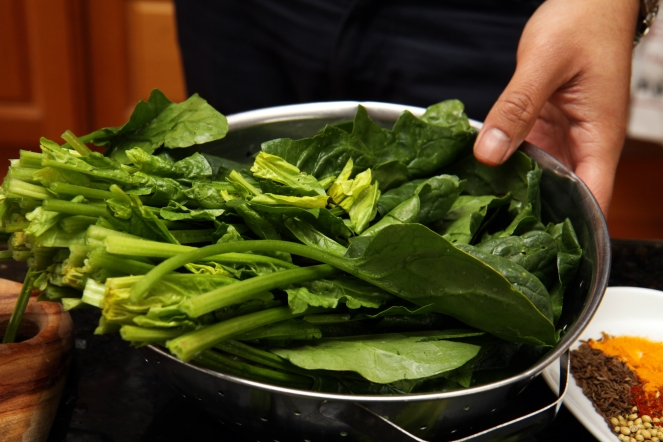 Beautiful, green English Spinach is packed-full of healthy vitamins.